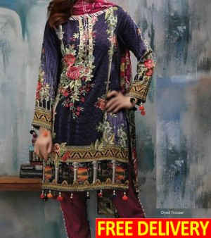 Buy Lawn Embroidered Dress Online
