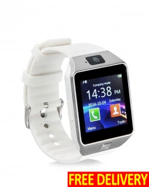 DZ09 SIM + Bluetooth White Color Smart-Watch