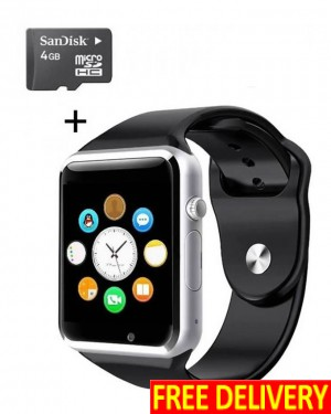 SIM & Bluetooth Smart Watch With 4GB Memory Card