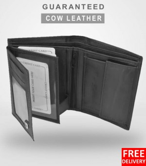 Cow Leather Book Style Wallet