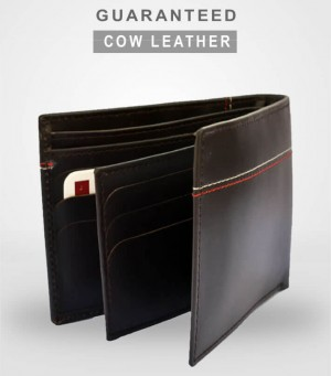 GC3 Cow Leather Elegant Series Tri-fold Wallet