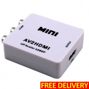 Audio-Video Signal to HDMI Converter