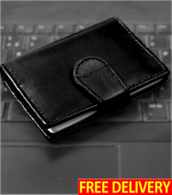 Genuine Leather Diary Design Card Holder Wallet