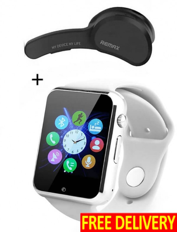 White Smart Watch With T10