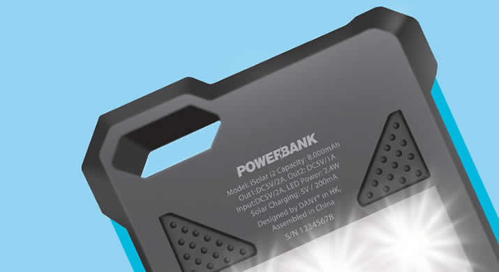 8000 mAh Power Bank Solar
